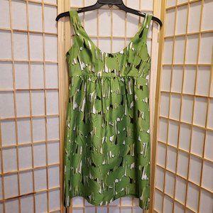 Michael Kors Lined Zipped 100% Silk Dress Sz 4